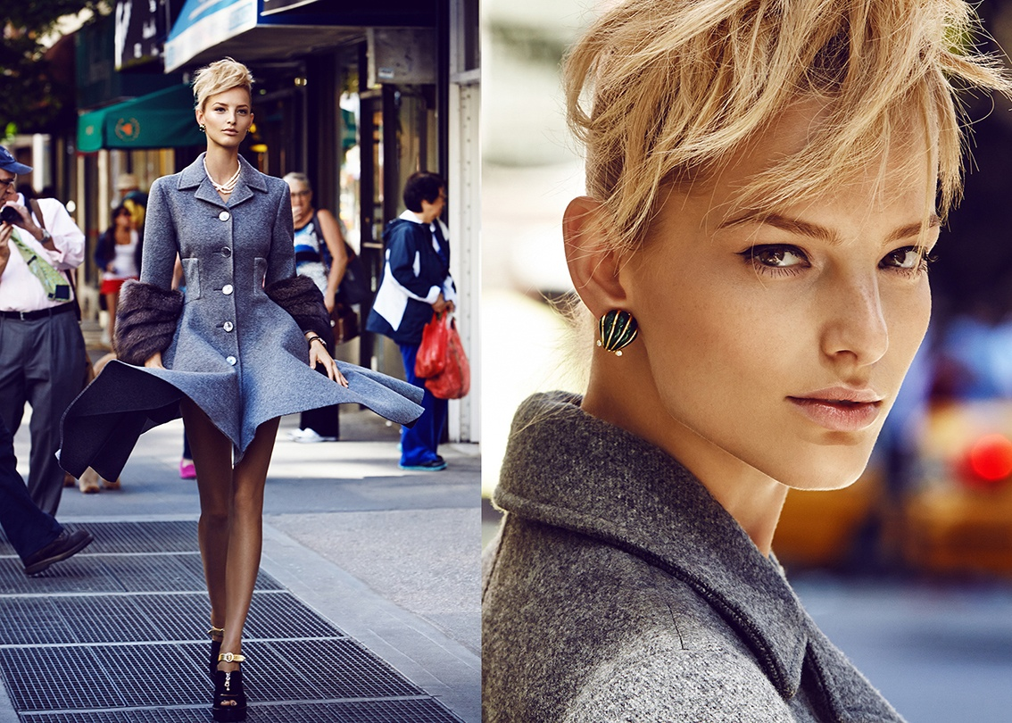 The hair … is this like a  front ponytail?    Image: Elle Czech