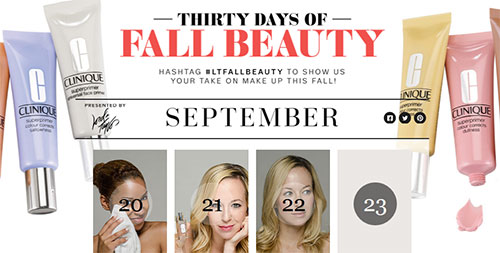 Excited to announce the launch of Lord & Taylor's  30 Days of Fall Beauty !    Me and two other amazing bloggers will be sharing 30 days of trends, tips and favorite products over the next month  right here .    You can also fire up your Instagram ( here's mine! ) to  win $1000 from Lord & Taylor (for beauty or whatever!)  by sharing your favorite bright Fall beauty selfie … so show me your bright pops on hair, lips, nails etc.!  Just tag it with  #LTFallBeauty OR #BrightFallBeauty  to be entered.   Stay tuned for my mug looking earnestly at yours over the next 30 days.  I discovered some AMAZING products during this process and I'm excited to share them!      Photography by Andrew Werner, Makeup by Marni Burton for Crosby Carter Management, and Hair by Adam Maclay at Artists by Timothy Priano - I am obsessed with this team! XOXO