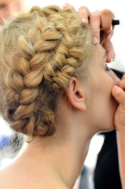 """Backstage at  Rebecca Minkoff  #NYFW   Designer Inspiration:  """"Evoking the beauty of nomads exploring the Mexican desert with a dash of punk rebellion, a portrait of Frida Kahlo inspired Minkoff's palette of warm Navajo neutrals…""""    Make up Stila, nails Essie, hair TRESemme    Images Cult of Pretty"""