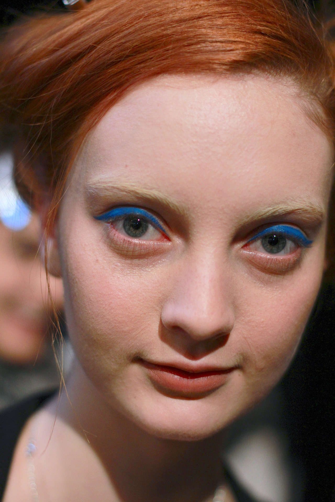 Electric blue + electric red  backstage at Honor FW13      And that's a wrap for NYFW!  Thanks to Rachel Scroggins for trekking the city for me, she is my backstage hero …      Hair: Bumble + Bumble; Makeup Stila for Beauty.com     Image:  The Greyest Ghost  for Cult of Pretty