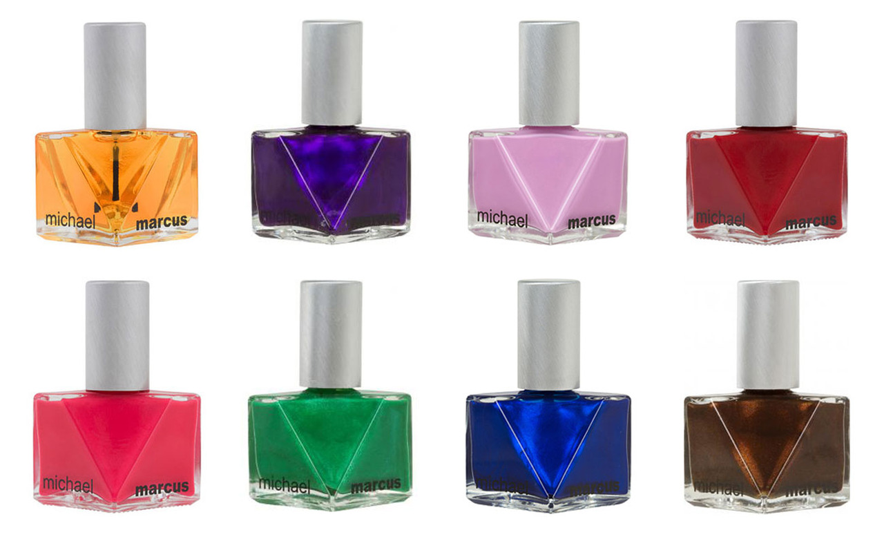 This is a fine, fine example of  the power of packaging.  Want them all.    Does this : Look good on your nails AND your dresser, also 3-free.  Is this:  Michael Marcus Nail Polish    Get this : Above    Price : $15