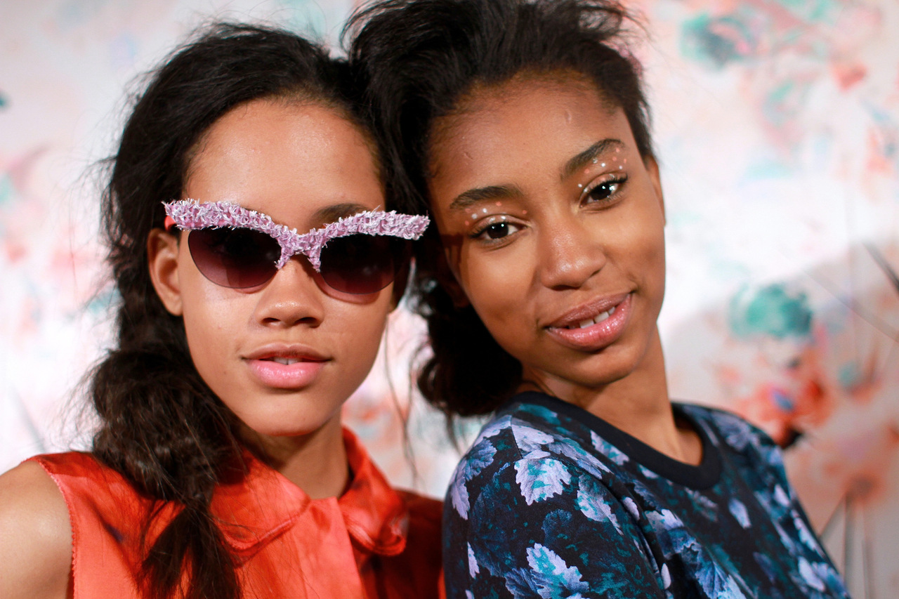 Polka dot eyes  at Calla SS13.   Makeup: M.A.C.; hair Moroccan Oil    Image:  The Greyest Ghost  for Cult of Pretty