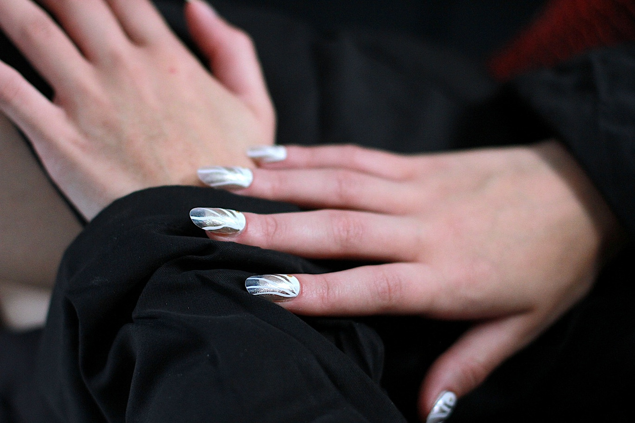 Katie Gallagher SS13 nails  by Julep.    Image:  The Greyest Ghost  for Cult of Pretty
