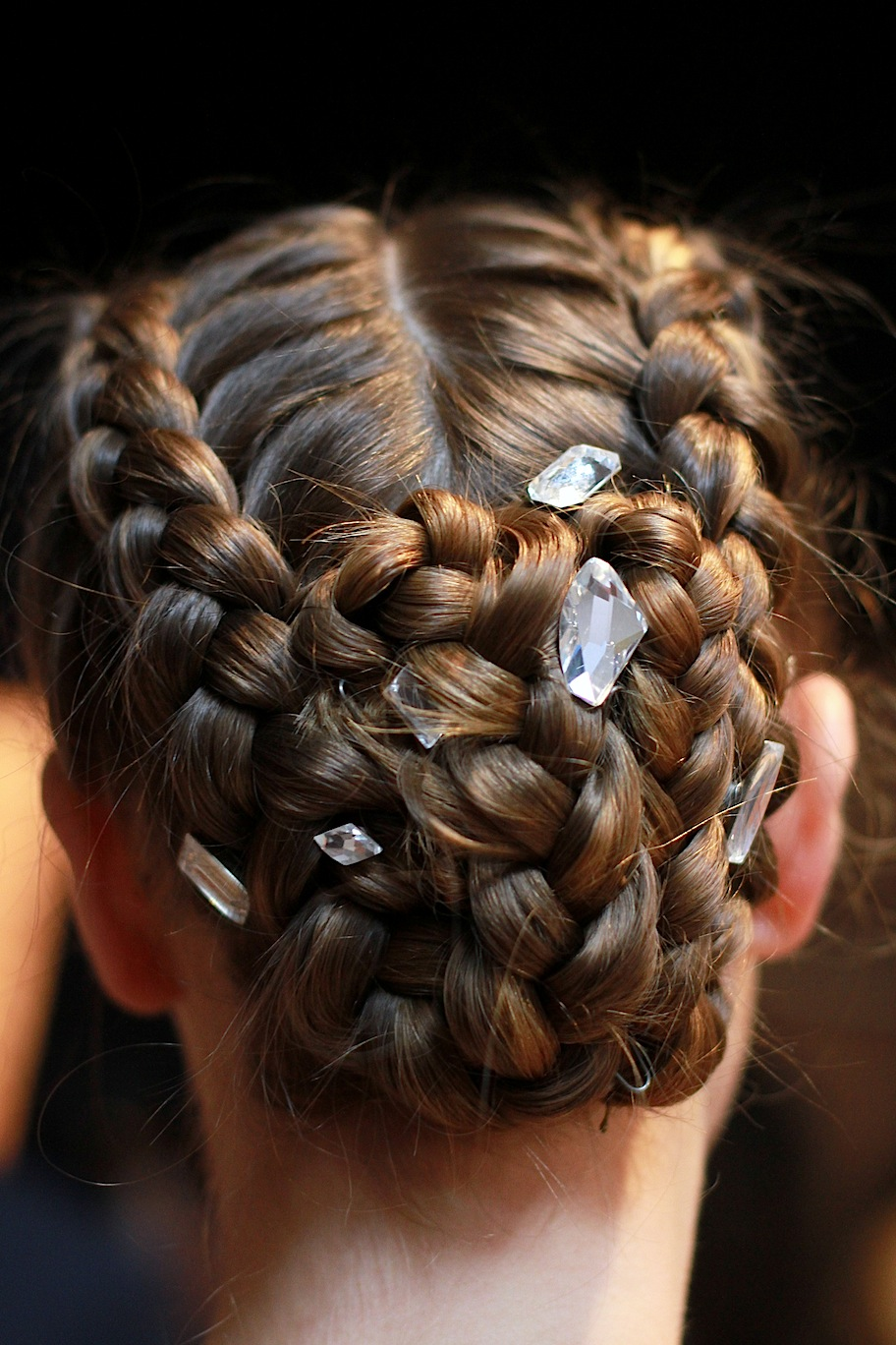 Bejeweled hair at Honor , by Bumble & Bumble.   Image:  The Greyest Ghost  for Cult of Pretty
