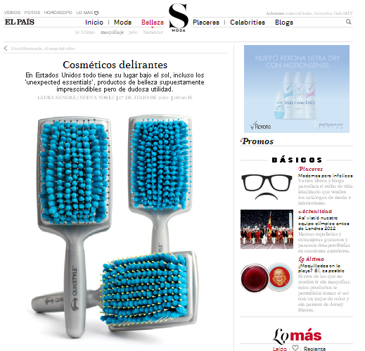 If you read Spanish or can click the translate button in Google, this is for you!     Crazy cult products with El Pais + Cult of Pretty.
