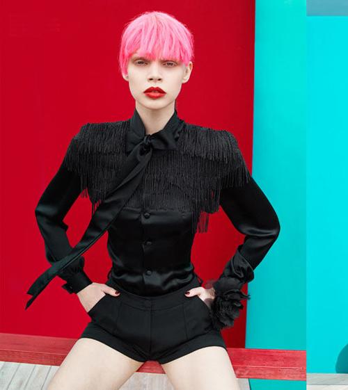 Pink + red.    Images:  Karen