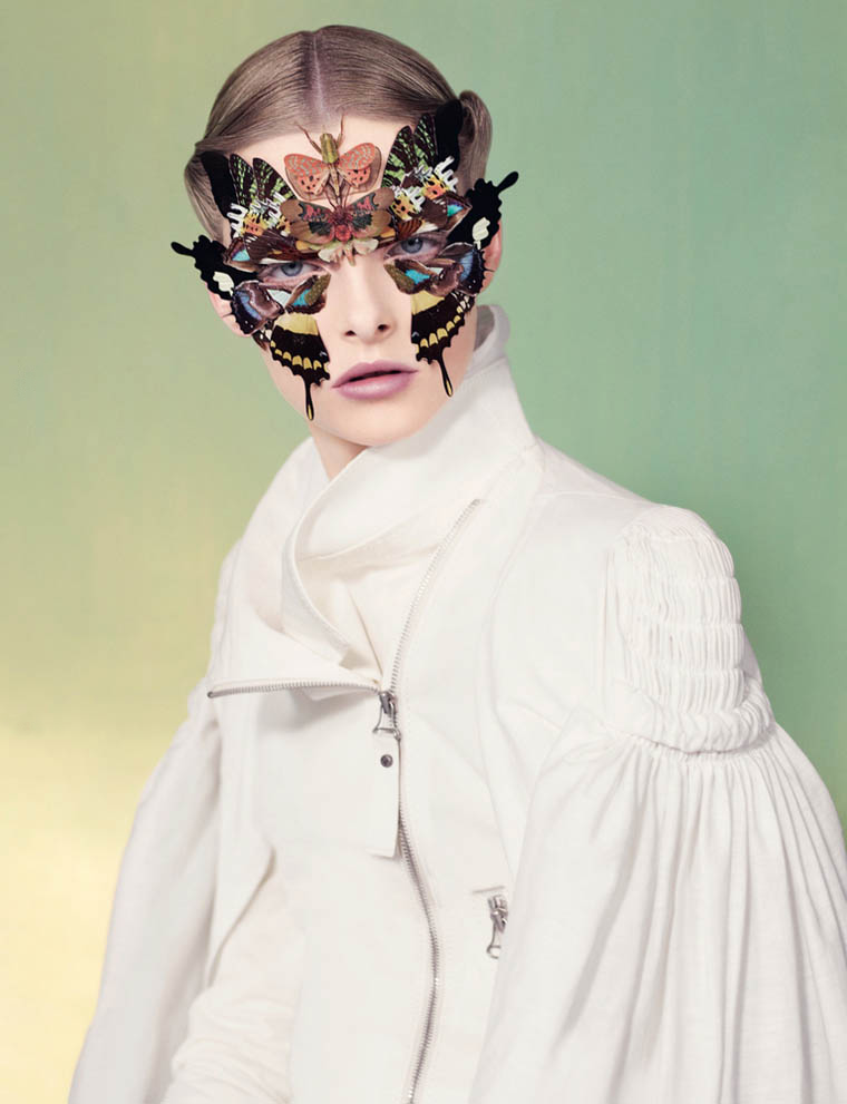 Butterflies (and insects) as makeup  …  see the whole Dazed editorial here .