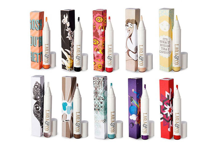 I want to make a separate pen cup on my desk for these.  And doodlicure away during conference calls.     Laqa&Co Nail Pens   … you know what's great about these? The packaging is an artist collab and the artists make a percentage of the sales.