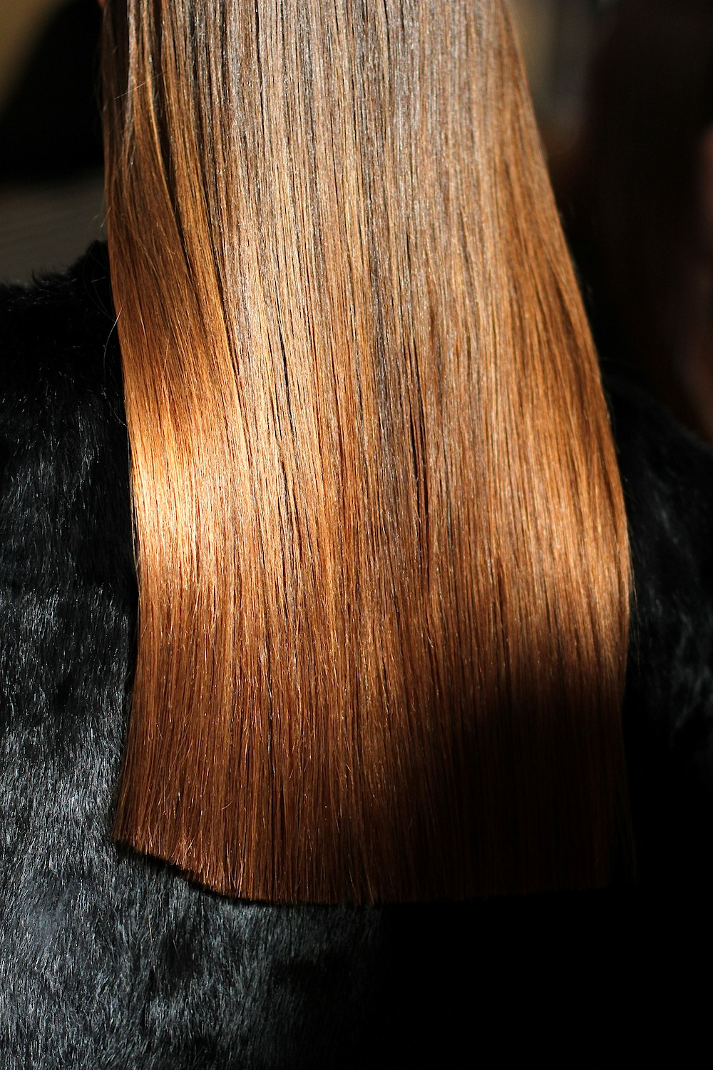 I got an email from Rachel after   Victoria Beckham FW12   today saying it was  the straightest hair she'd ever seen.     I was kind of confused by this - I mean straight hair is straight hair, I thought - but … I get it now! And I love it.   Hair by Guido for  Redken .    Image -  The Greyest Ghost  for CofP