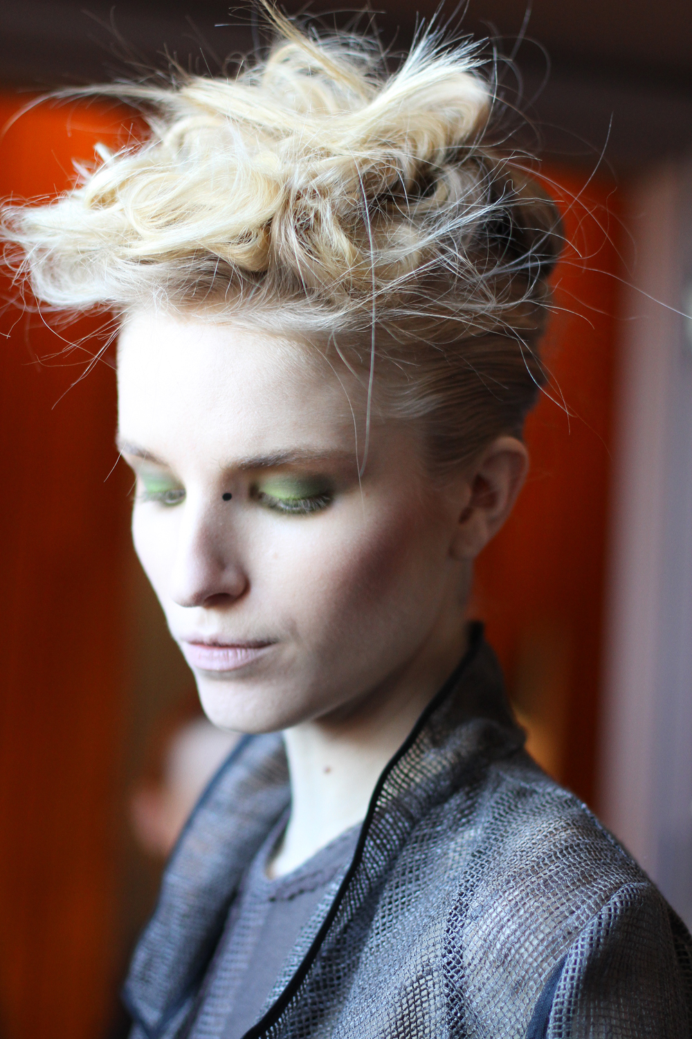 Katie Gallagher FW12   . Makeup by  MAC . Hair by  Cesar Ramirez .       Image -  The Greyest Ghost  for CofP