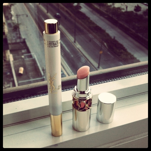 """At the Makeup Show in Chicago, I was persuaded to purchase the new sibling of the YSL cult beauty classic Touche Eclat, the   Touche Express """"Wake Up Eyecare"""" stick  , and what is essentially a really fancy-ass lip balm, the   Volupté Sheer Candy   in No. 3 Juicy Grapefruit.   The 20% discount at pro artist tradeshows helped : ) But actually the  website has FRIENDS & FAMILY 20% off and free shipping  for orders over $75 now so … go crazy."""