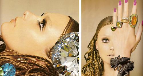 Triple eyeliner. Or double (black/silver).    Feeling this?      Vogue Spain via  RU Glamour