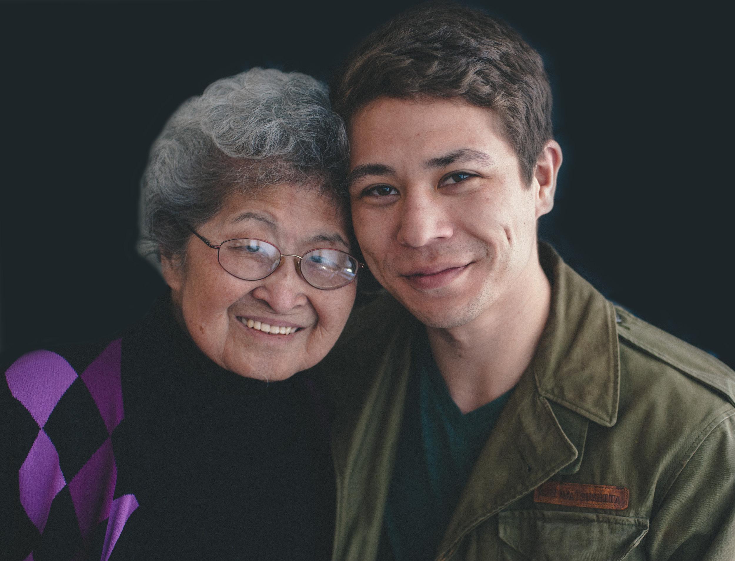Josh and his grandmother,Fumiko.