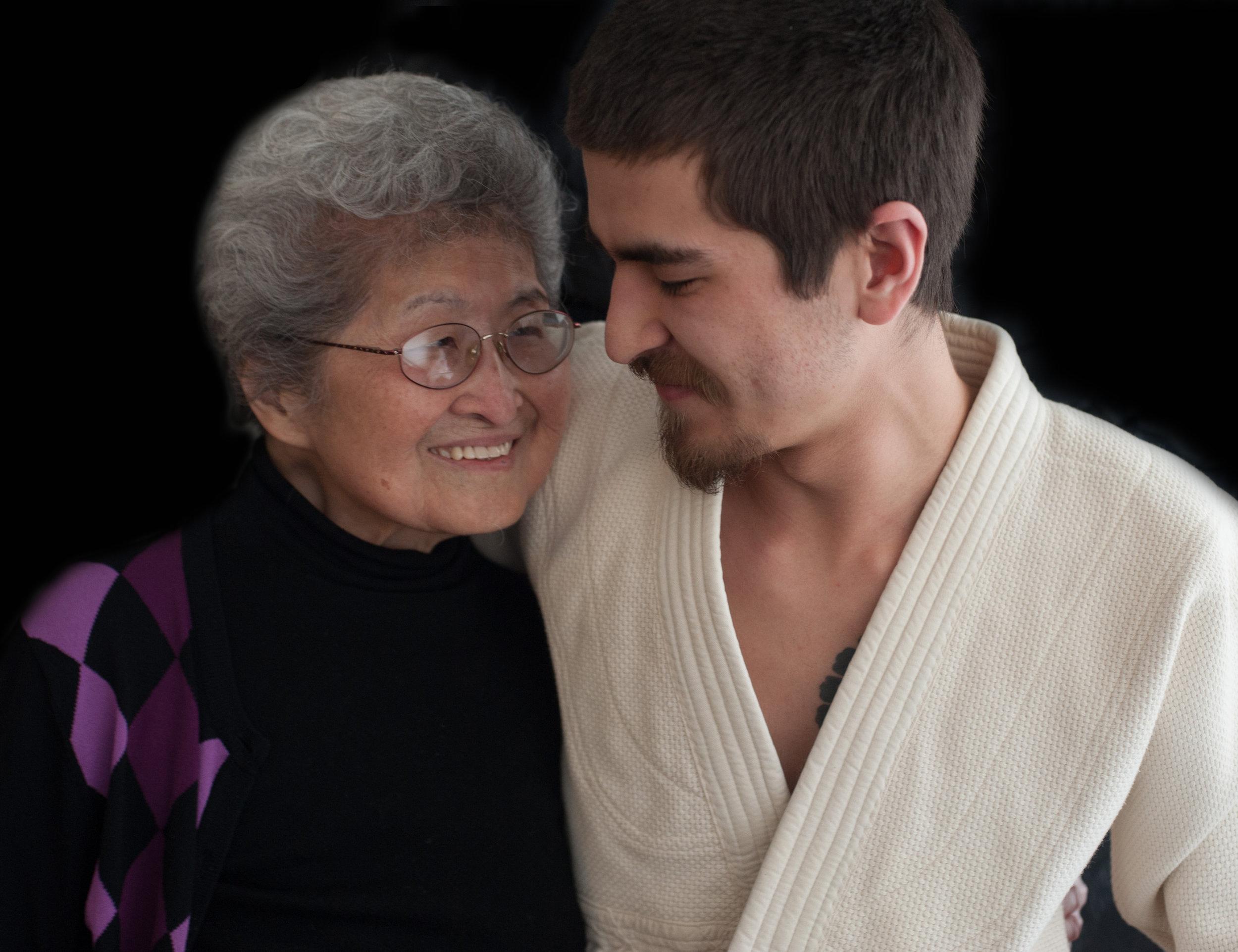 Sam and his grandmother, Fumiko.
