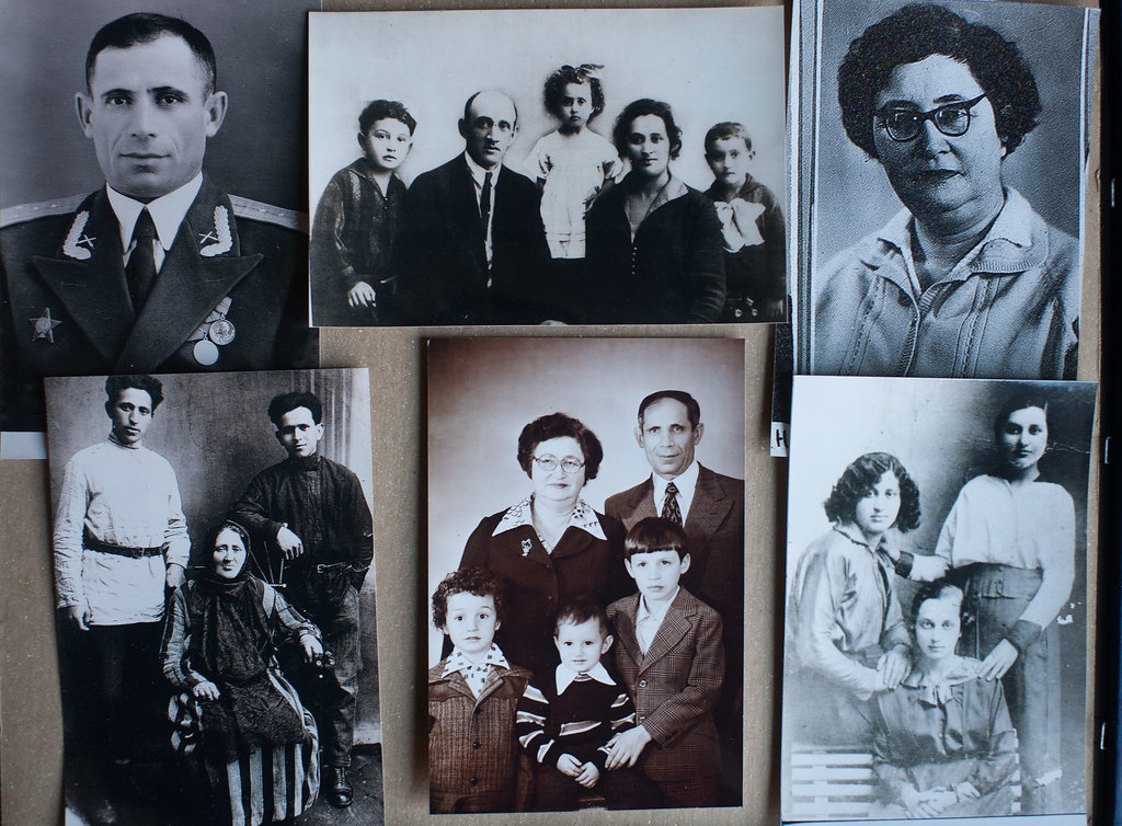 Ilya, Elena's father (upper left). Tunya, Elena's mother (upper right).