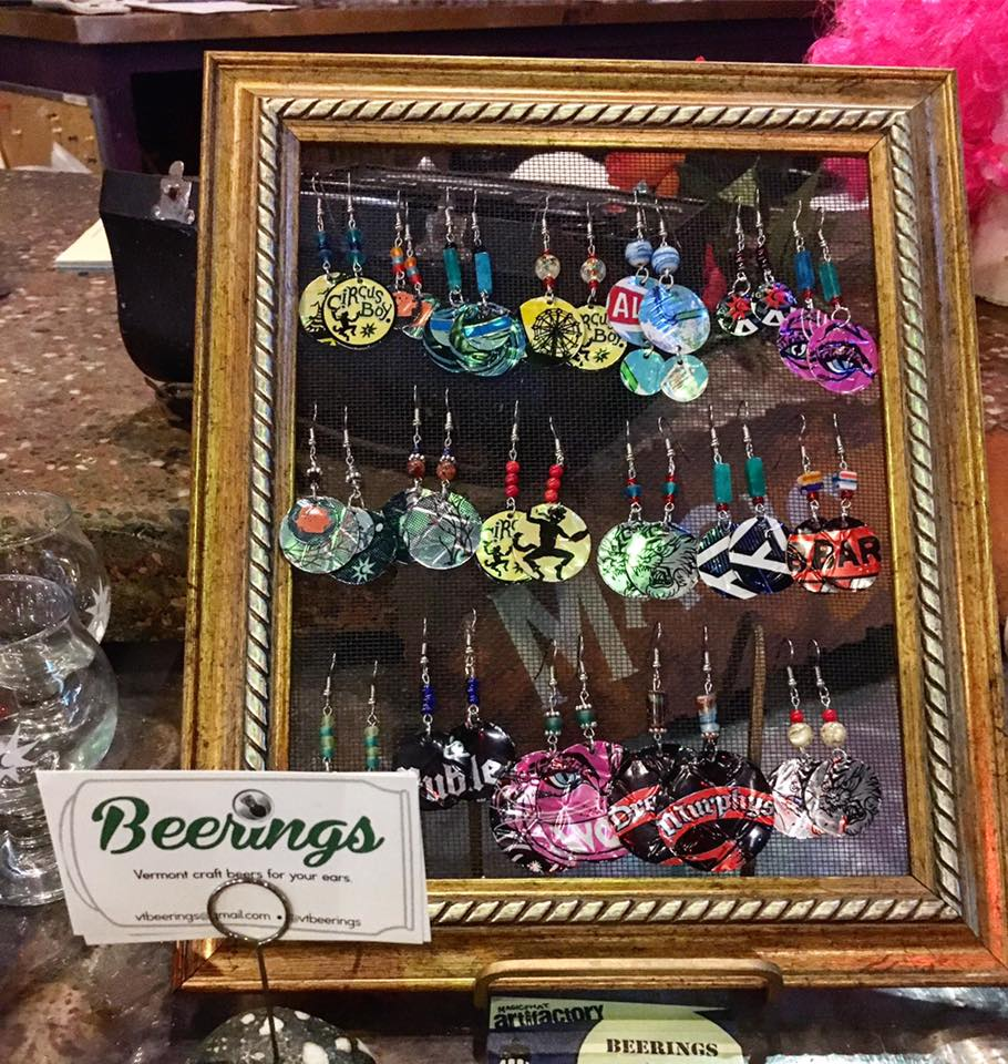 Beerings - Earrings & keychains made out of Vermont craft beer cans