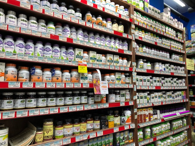 This is how a small health food store adaptogen section is looking nowadays....