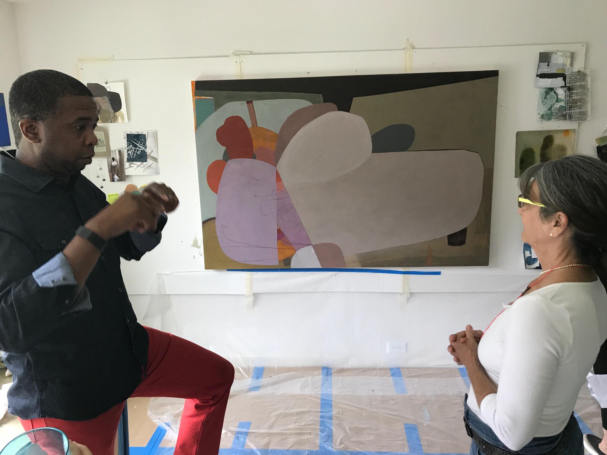 John Spriggins and Arienne discuss studio practice.