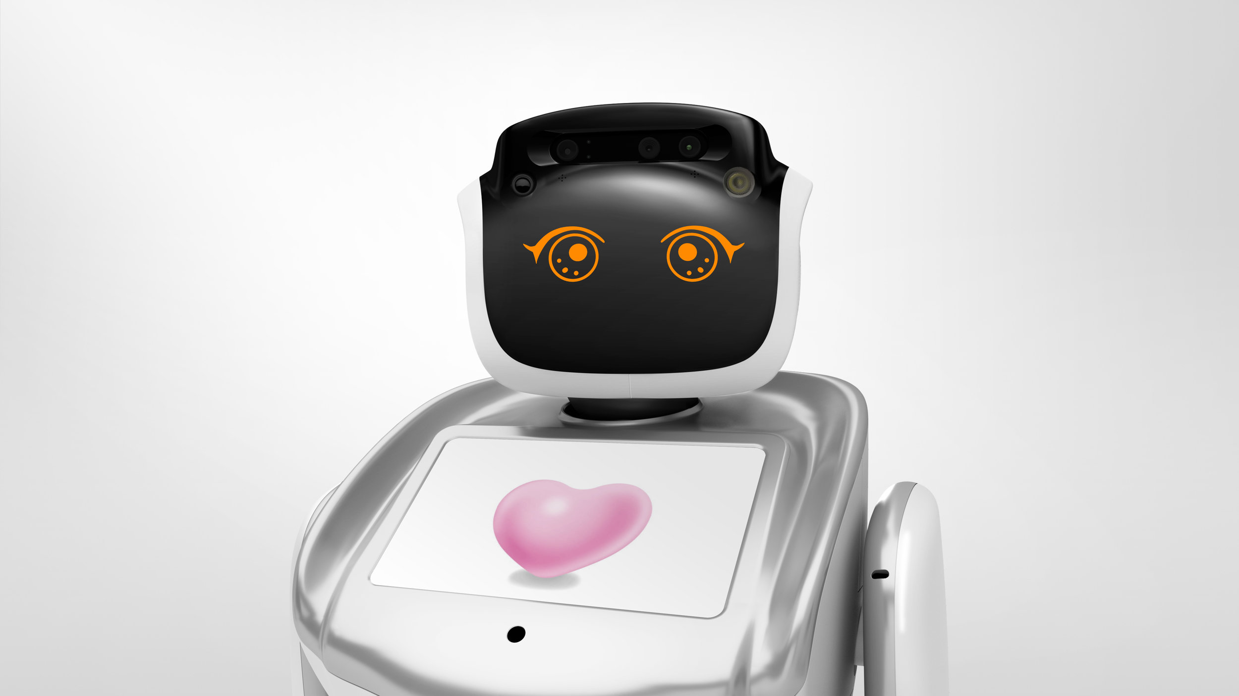 sanbot with various emotions - Sanbot is able to show a large number of different emotions