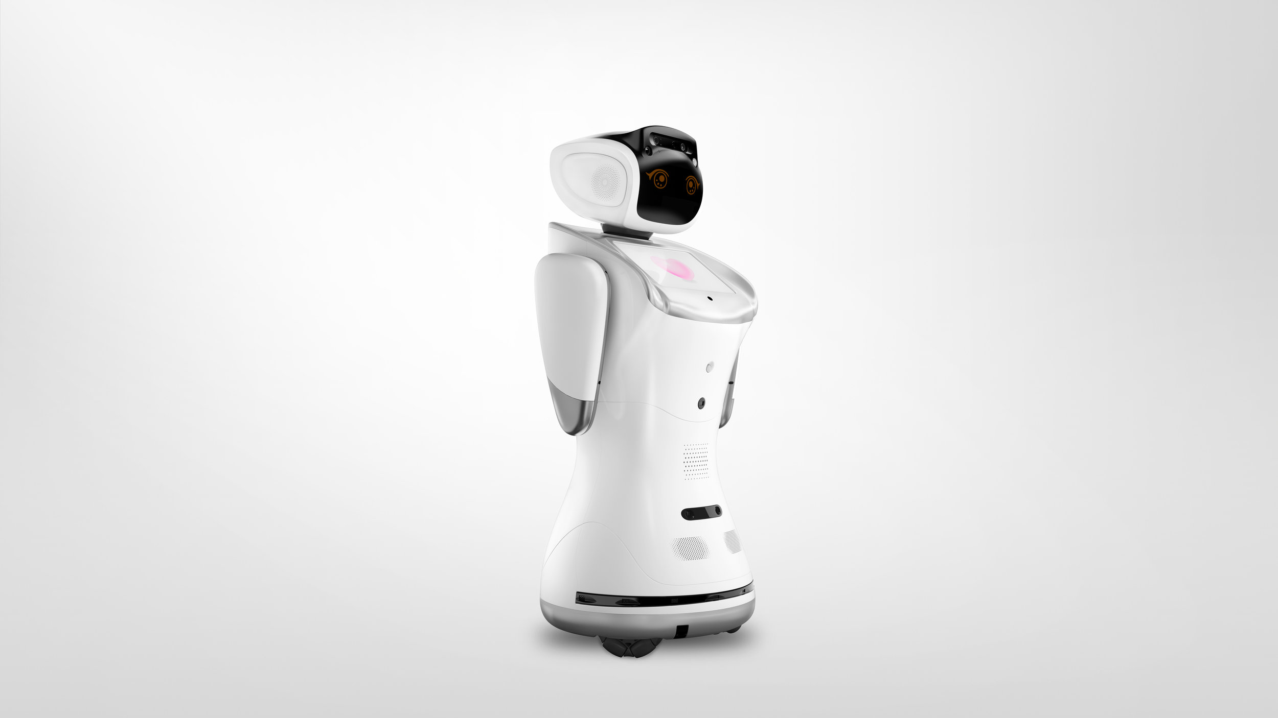 sanbot can move 360 degrees -
