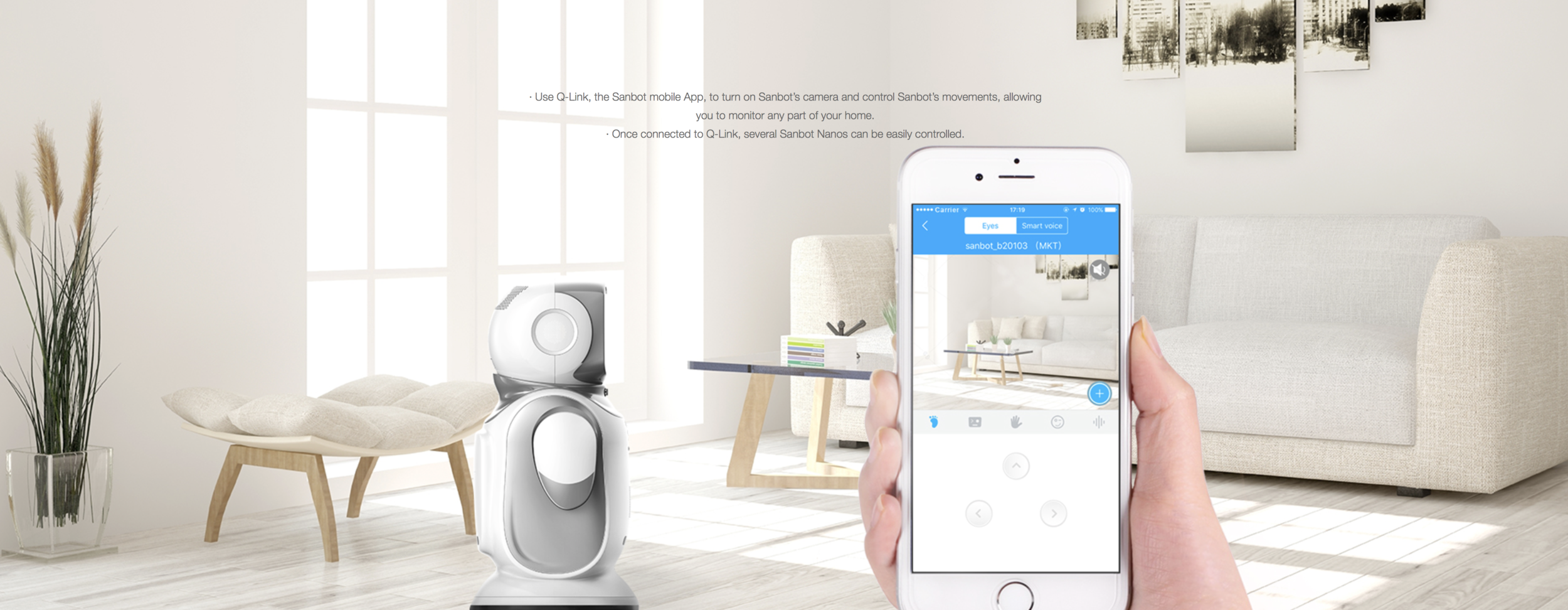 Sanbot Nano Connects To The Qlink App