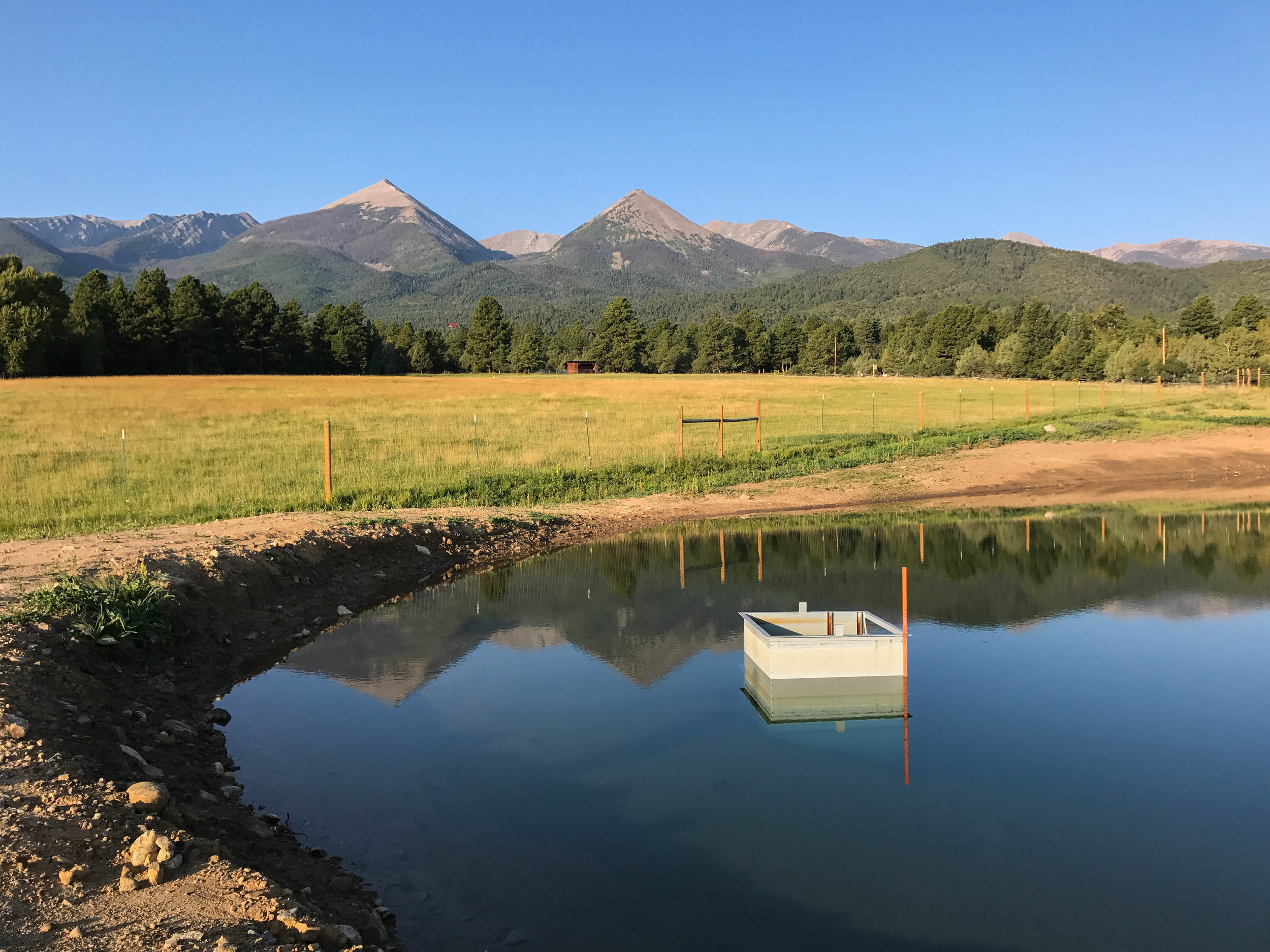 New irrigation pond for the lettuce farm.