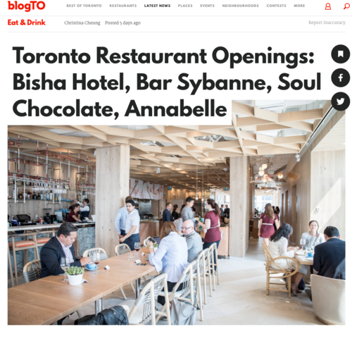 BLOG TO Toronto Restaurant Openings