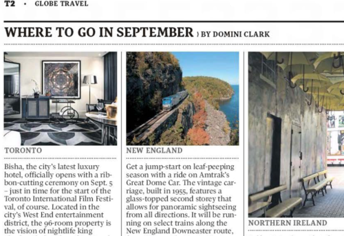 THE GLOBE AND MAIL Where To Go In September