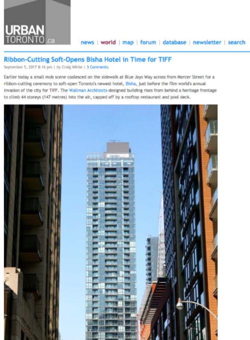URBAN TORONTO Bisha Hotel Toronto Ribbon-Cutting
