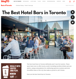 BLOG TO The Best Hotel Bars in Toronto