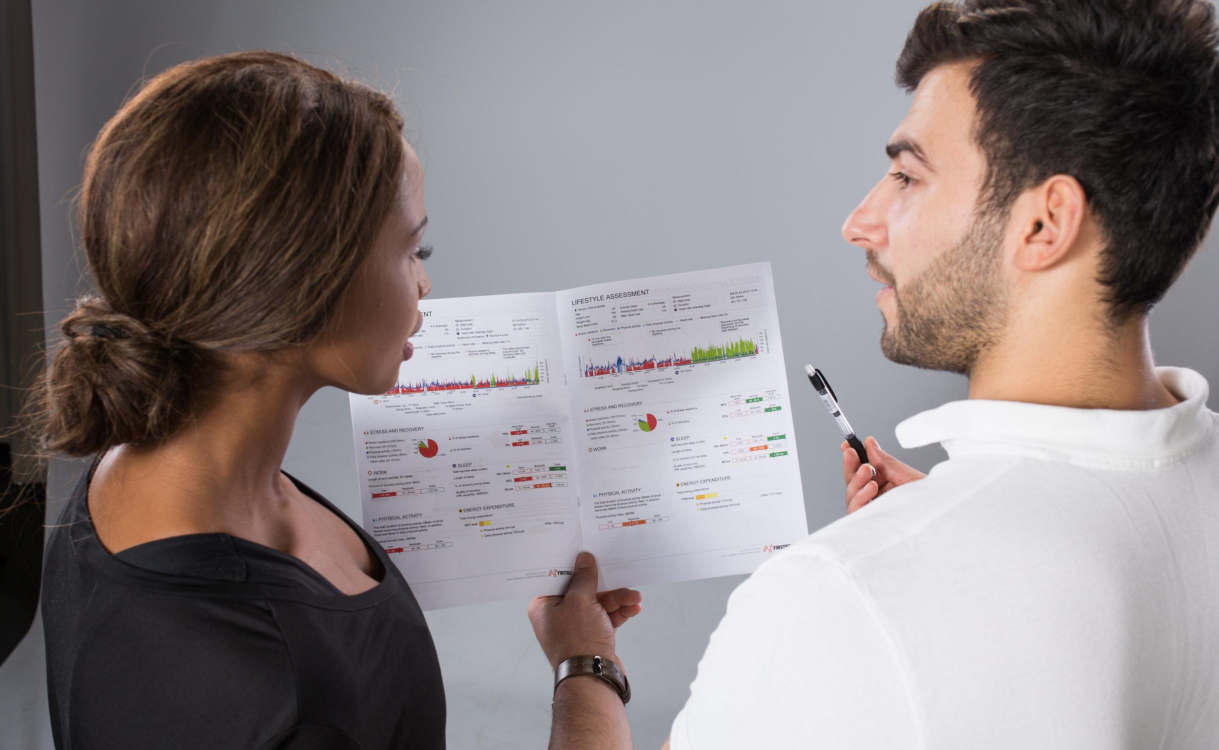 Hyvinvointianalyysi - Noste Hyvinvointipalvelut tarjoaa palveluna hyvinvointianalyysia, jossa asiantuntija tulkitsee Firstbeat raporttisi ja käymme yhdessä läpi stressin, unen sekä palautumisen määrän ja riittävyyden.