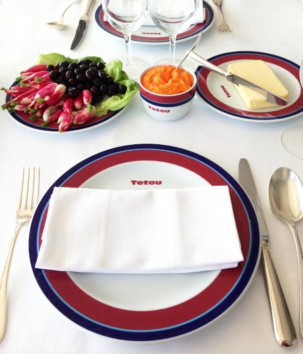 Table setting Chez Tetou