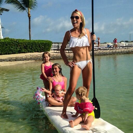 Paddleboarding family fun.