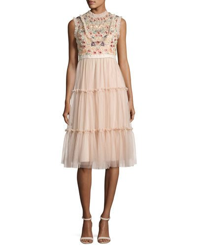 Copy of Needle & Thread Sundaze Tiered Tulle Dress