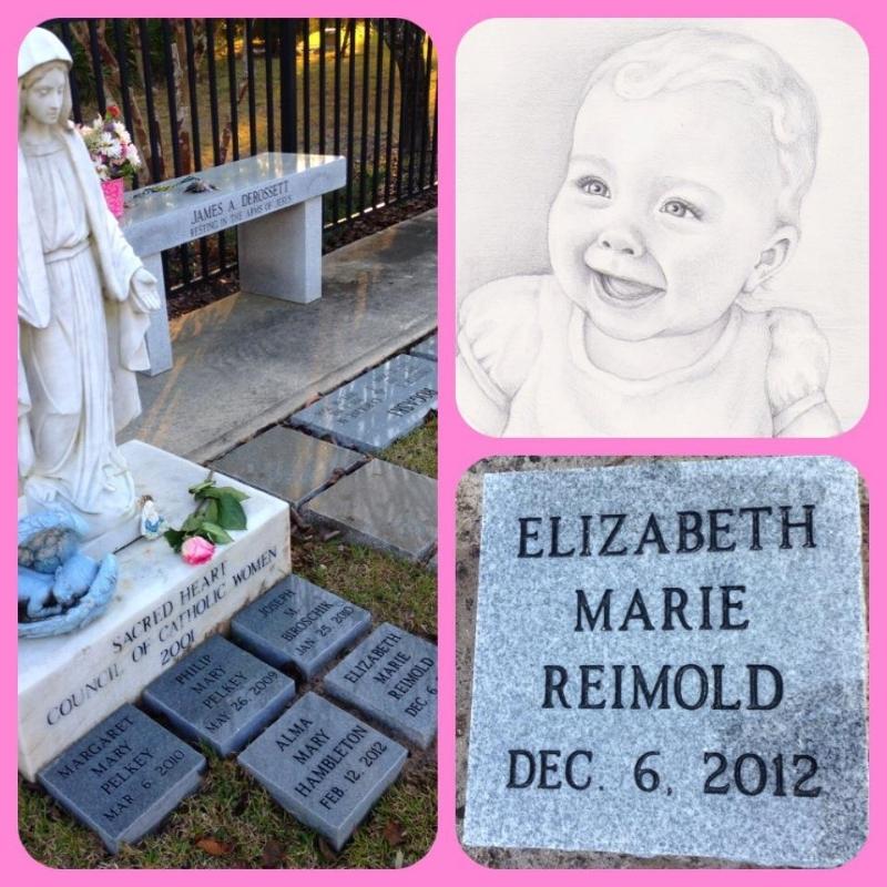 My sweet Elizabeth's final resting place.