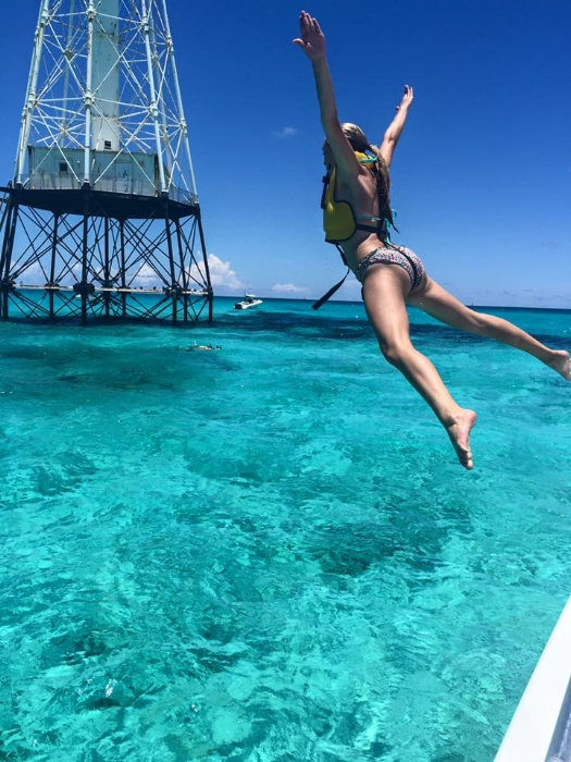 Jumping off The Happy Cat into Alligator Reef.