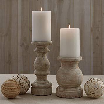 White Washed Candlesticks