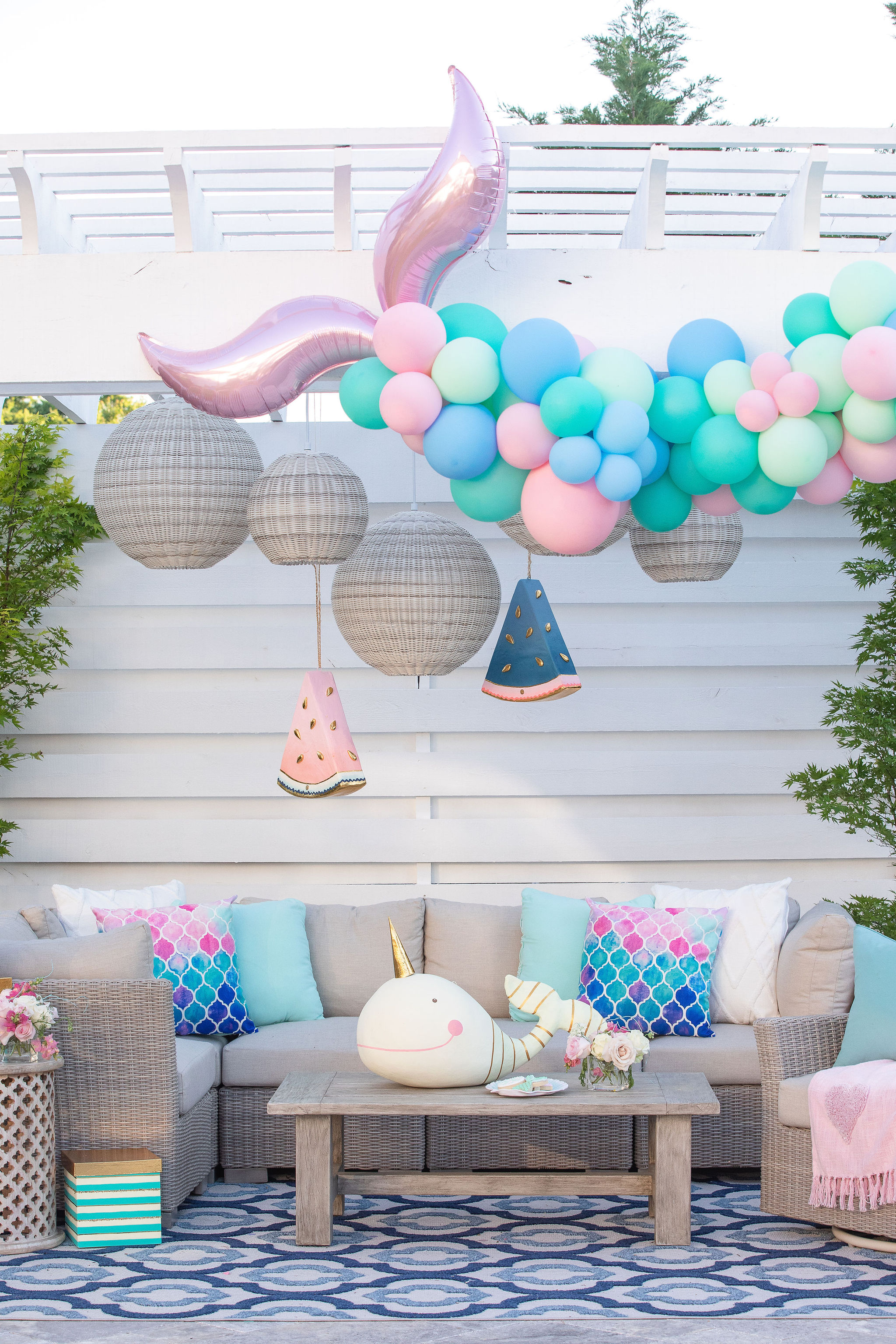 Mermaid Party - fun, bright, and colorful design styling for HGTV