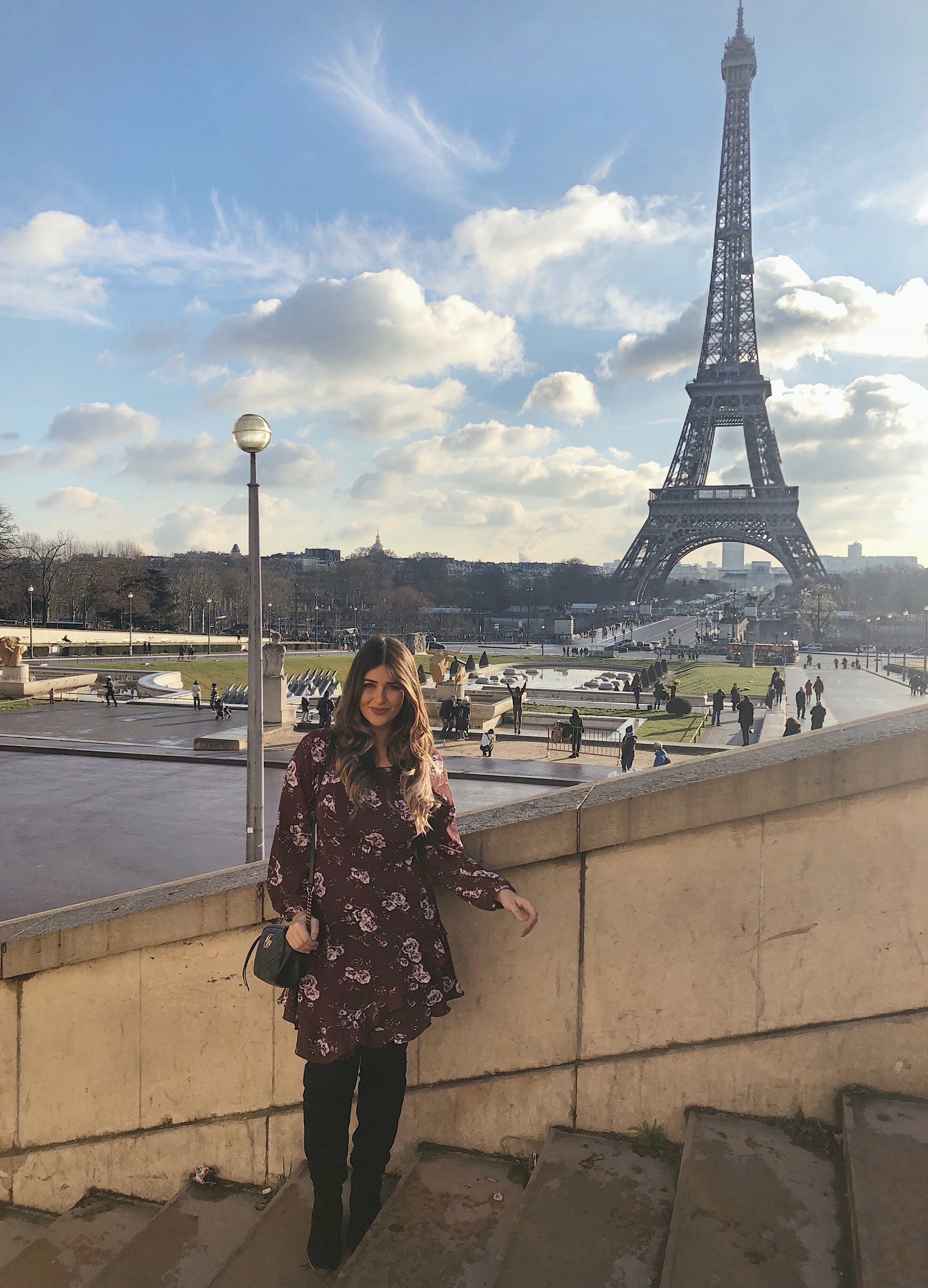A very chilly, but beautiful day in Paris in December, wearing one of my favorite dresses from  Collective Concepts .