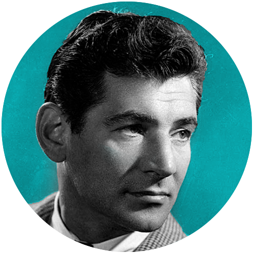 BERNSTEIN - Leonard Bernstein is best known for composing West Side Story, but he was also a celebrated conductor, author, music lecturer, and pianist.