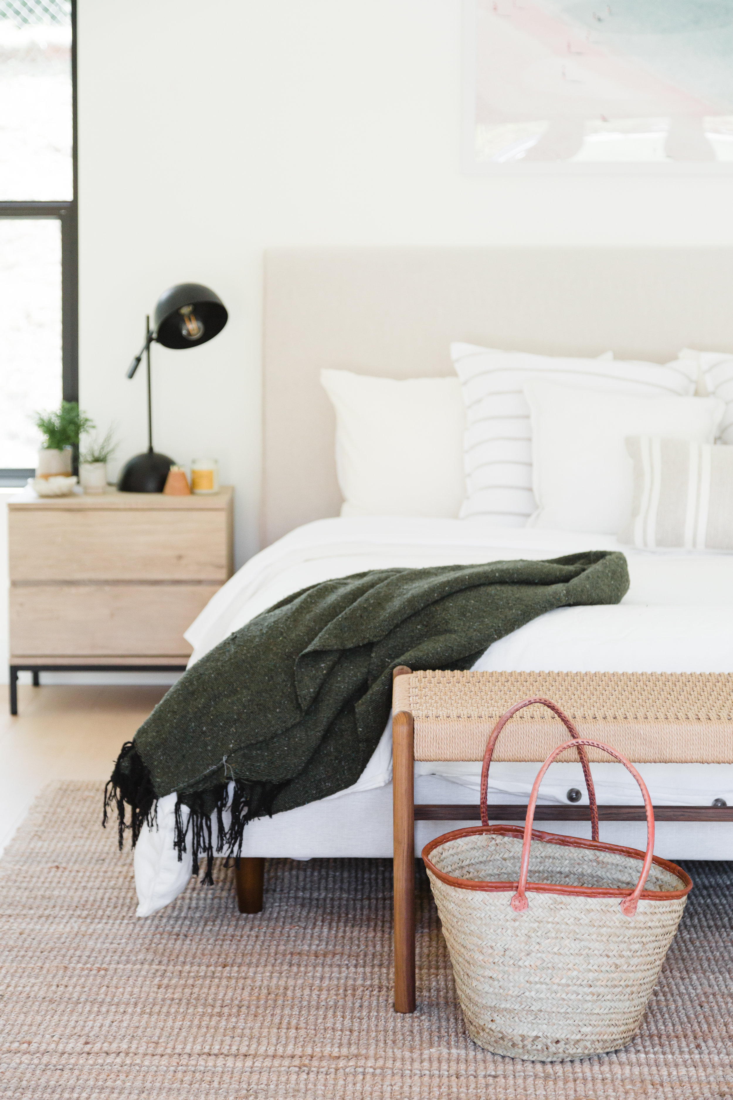 5. Update Your Bed - New sheets, new duvet, add a fun new throw and you've got yourself a fresh new serene bedtime setting.