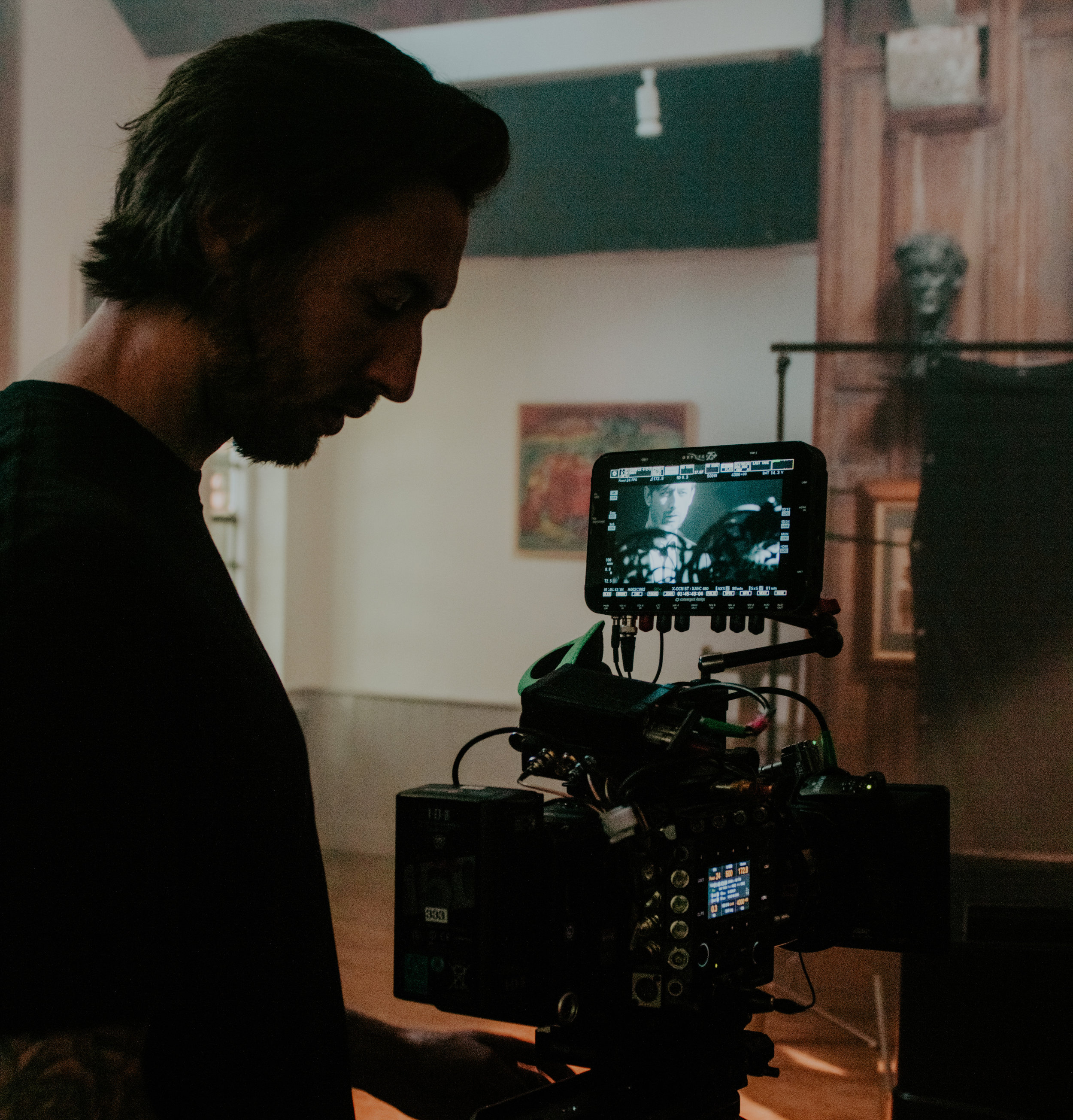 Carter Hewlett Director of Photography on-set operating the Sony Venice