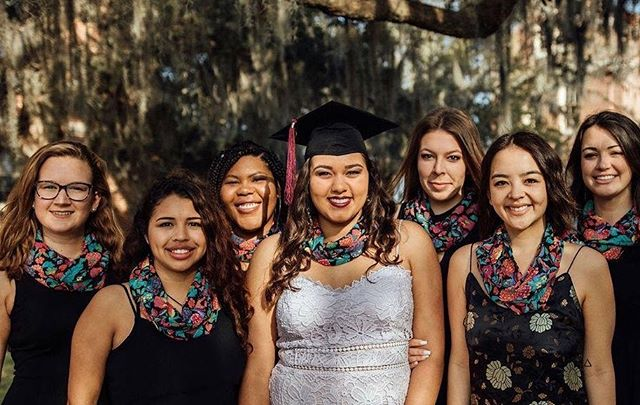"Graduation season is upon us! Give the gift of impact by buying your graduating senior a Gifts for Confidence Scarf! Use the code ""grad2019"" for 10% off! #giftsforconfidence #classof2019"
