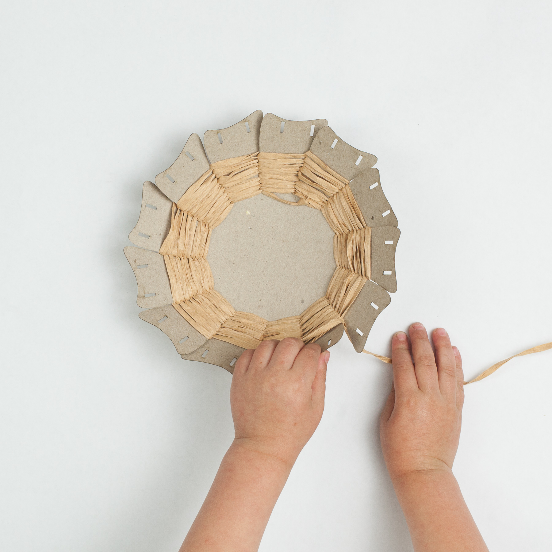 Pull and bend a little to shape the basket