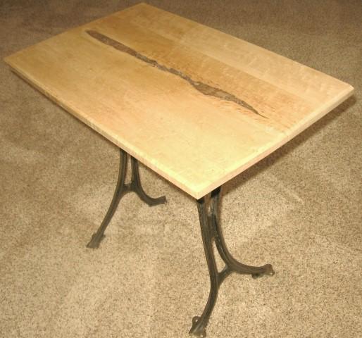 Birdseye maple coffee table.JPG