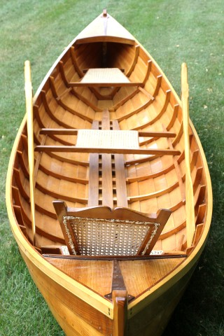 Adirondack Guide boat - lapstrake pine on sawn sassafras knees