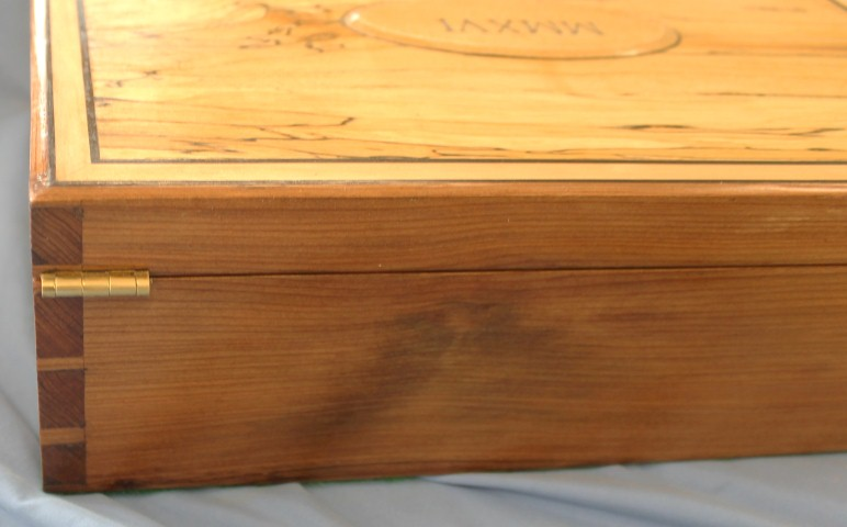 Commemorative box back panel - Californian Redwood