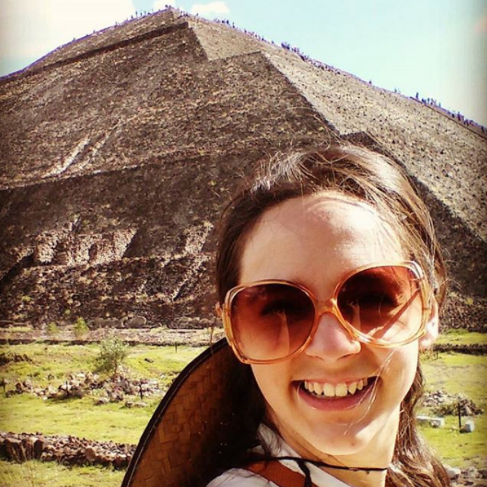 I'm an avid  traveler . In this photo I was at an ancient Mesoamerican city, known as  Teotihuacan  (in Mexico). It was beyond incredible. I never would have thought I'd get to see such amazing things in this world.