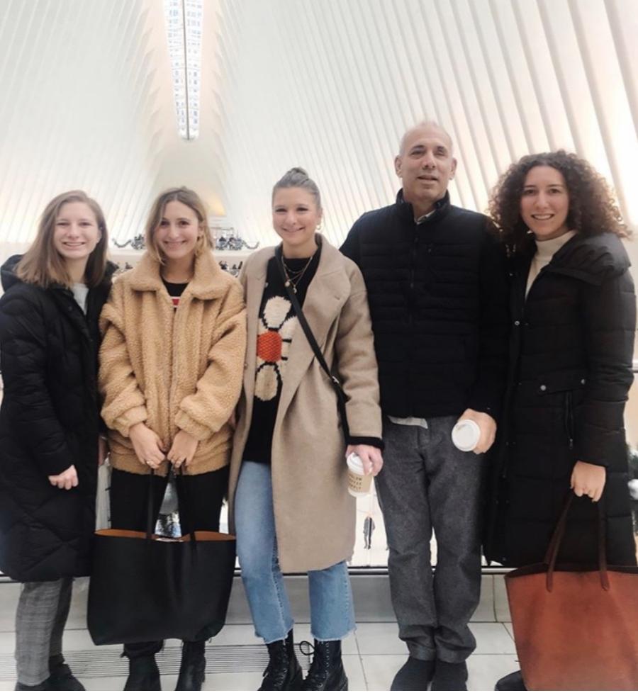 Stevie Wonder and his fleet of daughters, circa winter 2019.