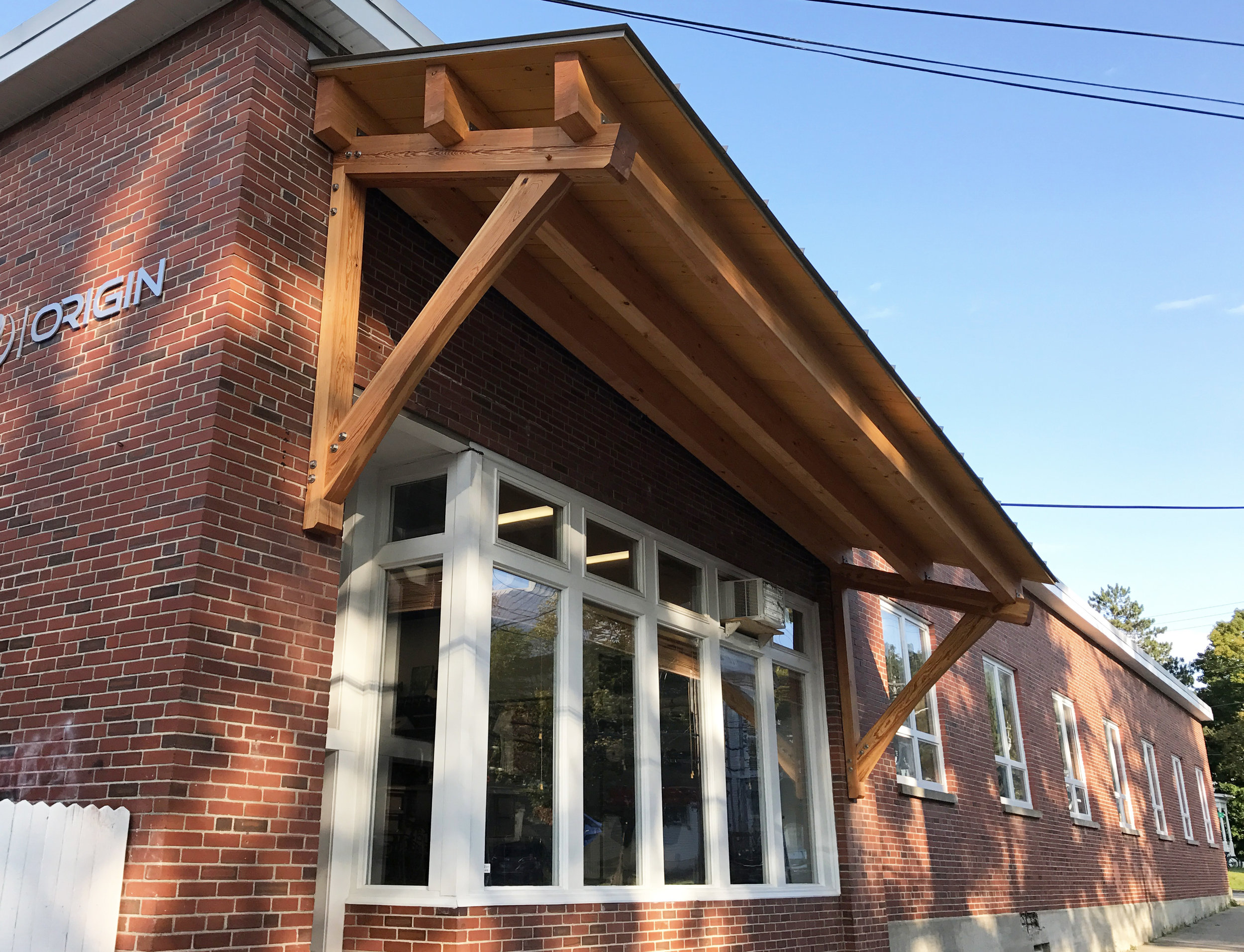 Timber Frame Overhang